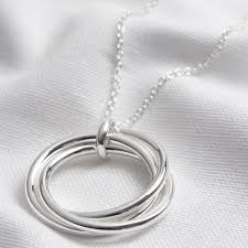 large triple linked ring pendant