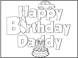 Small Picture Coloring Pages Birthday Card For DadPagesPrintable Coloring
