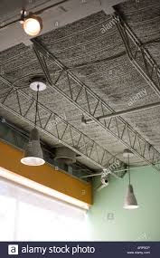 exposed ceiling lighting. Modern Exposed Ceiling Industrial Building Light Fixture Clean Color Bright Architecture Lighting
