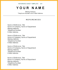 How To Write References In Resume Extraordinary Academic Reference Sample Report Resume Personal References Samples