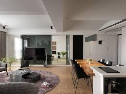 living room dining white