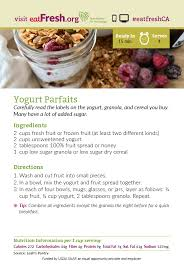 card recipe yogurt parfait recipe card