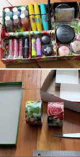 cardboard craft tape jewelry tray pic for 18 diy makeup storage ideas for