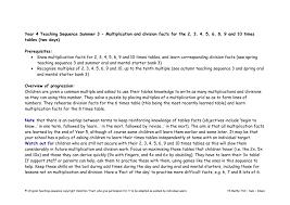 Year 2 Teaching Sequence xxx