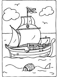 Kleurplaat Voc Schip Piraten Kleurplatenlcom