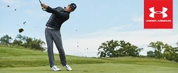 under armour golf. gary woodland playing golf while wearing under armour clothing n
