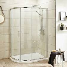 Curved Shower Enclosures Uk Pacific Offset Quadrant Enclosure In Decor