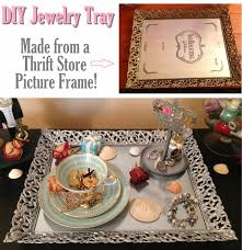 diy mirror tray from a thrift picture frame