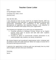 Example Teacher Cover Letters Teacher Cover Letter Example 10 Download Free Documents