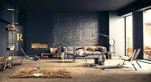 brick wall room design interior ideas white living rooms with exposed walls kids astonishing fur industrial