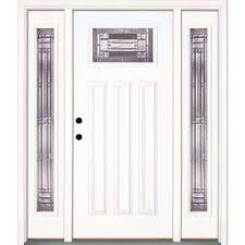 white single front doors. Unique Front 635 In X 81625 Preston Zinc Craftsman Unfinished Smooth RightHand  Fiberglass To White Single Front Doors L