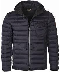 Men's Barbour Ouston Hooded Quilted Jacket & Men's Barbour Ouston Hooded Quilted Jacket - Black Adamdwight.com