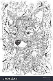 Fox Hand Drawn With Ethnic Floral