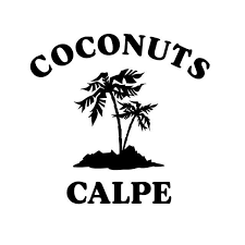 restaurants logo with a palm tree. Simple Tree Coconuts Calpe  Cocktail Bar U0026 Restaurant With Restaurants Logo A Palm Tree O