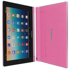 lenovo yoga tablet 10 hd pink carbon fiber skin protector