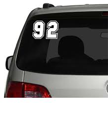 2x race numbers car van window decal sticker