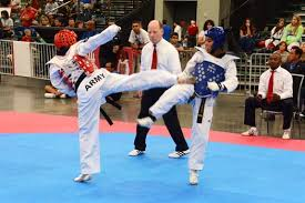 u s department of defense photo essay  army master sgt charity beyer left lands a roundhouse kick during the 2015 usa taekwondo national championships in austin texas 8 2015