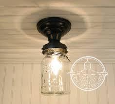 single vintage canning jar ceiling light mason jar lighting fixture flush mount chandelier track fan kitchen farmhouse pendant lampgoods