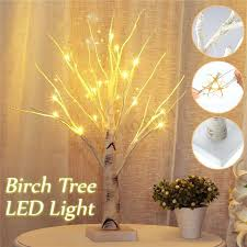 led tree lamp details about birch tree light tabletop tree light party wedding decor light cherry led tree lamp