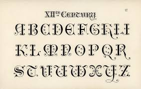 Calligraphy Fonts 12th Century Calligraphy Fonts From Draughtsman 39 S Alph Flickr
