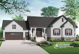 One Story House Plans With Garage U0026 One Level Homes With Garage Small Home Plans With Garage