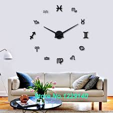 items home office. New DIY Wall Clock Modern Interior Large 3D Stickers Design Home Office Decoration Artistic Items S