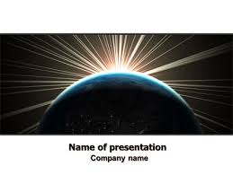 Space Google Slides Theme Sunrise From Space Free Presentation Template For Google