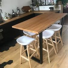 La Table De La Cuisine On A Commandé Les Pieds Sur Etsy Fait