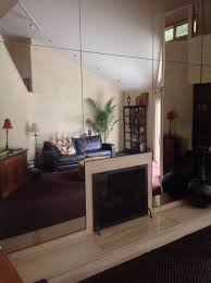 mirrored wall in my living room