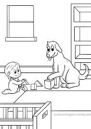 Kleurplaat Kind Met Hond Gratis Kleurpaginas Om Te Downloaden