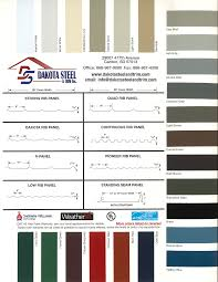 Weather Color Chart Dakota Steel Trim Inc