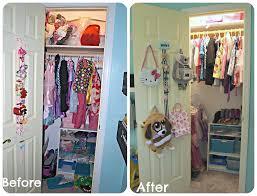 Organizing a Girls Closet with a Dress-up Bar