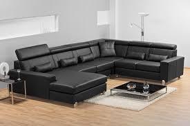 complete trendy black sofa set ...