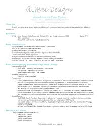 Event Planner Resume Resume Templates