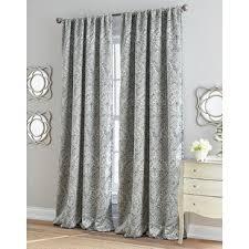 Gray and beige curtains Blackout Roseville Damask Room Darkening Rod Pocket Single Curtain Panel Wayfair Light Gray Curtains Wayfair