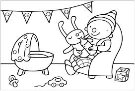 Baby Kleurplaat Kleurplaten Baby Geboorte Shshiinfo