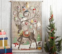 advent calander reindeer painted advent calendar pottery barn kids