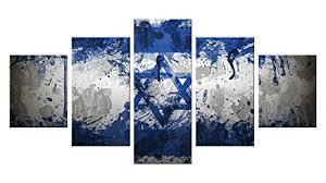 jewish hamsa canvas wall decor 5 pieces appreciation wall art oil painting unframed on messianic jewish wall art with amazon jewish hamsa canvas wall decor 5 pieces appreciation