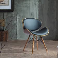 type of furniture design. Wonderful Type Chair  Attractive Black Leather Upholstery Curved Seat And Back Design  Wood Metal Frame Brown Walnut Finish Accent Type Furniture Vintage Stool Mid  Of