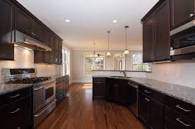 Kitchen Backsplash Dark Cabinets Modern Style Dark Kitchen Cabinets
