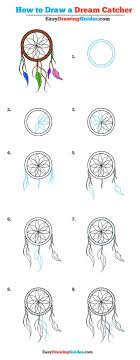 Dream Catcher Patterns Step By Step How to Draw a Dream Catcher Really Easy Drawing Tutorial 22