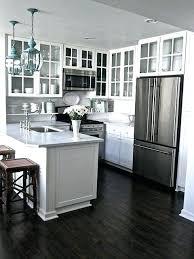 Dark hardwood floors kitchen Rich Wood White Kitchen Cabinets With Dark Floors White Kitchens With Dark Wood Floors Kitchen White Cabinets Dark Unique24info White Kitchen Cabinets With Dark Floors White Kitchens With Dark