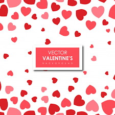 Simple Valentines Hearts Background Vector Free Download