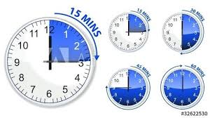 Timer For 15 Min Timer 15 Mins Set Of Blue Timer And Minutes Isolated On White 15