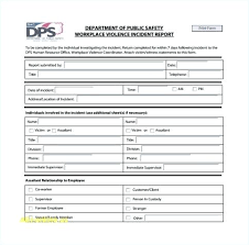 Incident Report Forms Download Employee Accident Template Word