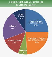Pie Chart Showing Emissions By Sector 25 Is From