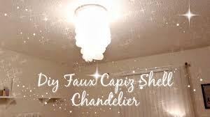 diy faux capiz shell chandelier