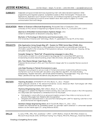 Xml Resume Example Examples Of Resumes