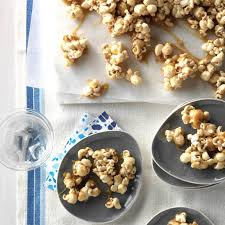 chewy caramel coated popcorn