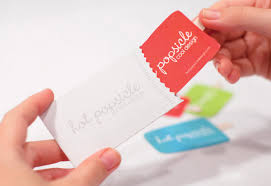 Popsical Shaped Business Card In Wrapper Holder The Big Ad
